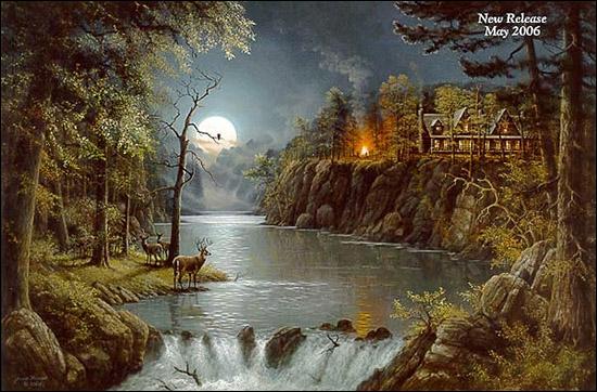 Jesse Barnes Wilderness Retreat Paper And Canvas Art