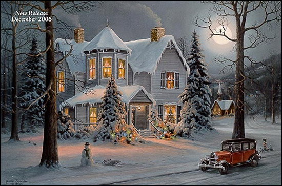 Jesse Barnes Yuletide Cheer Paper And Canvas Art