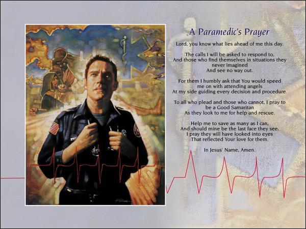 Ron DiCianni - A Paramedic's Prayer - Christ-Centered Art
