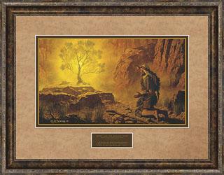 Arnold Friberg Moses And The Burning Bush Christ