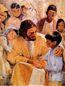 Richard Hook - Christ with Children - Christ-Centered Art