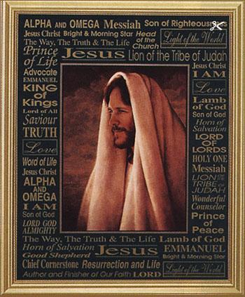 Greg Olsen Gentle Healer With Names Of Jesus Christ