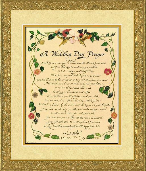 candy roe a wedding day prayer christ centered art
