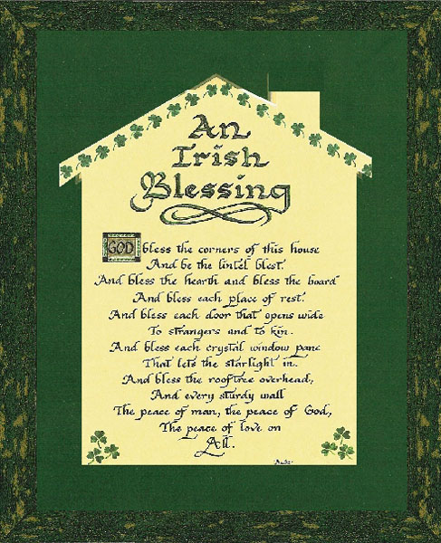 Candy Roe An Irish Blessing For Home Christ Centered Art