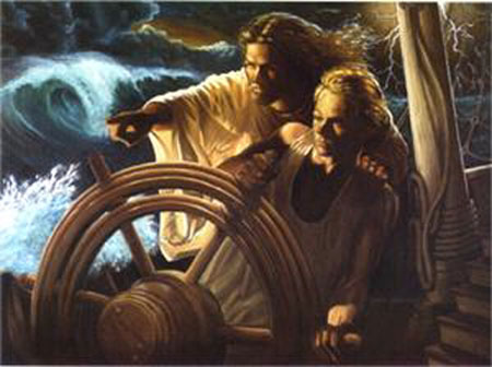 Stephen S Sawyer The Storm Pilot Christ Centered Art